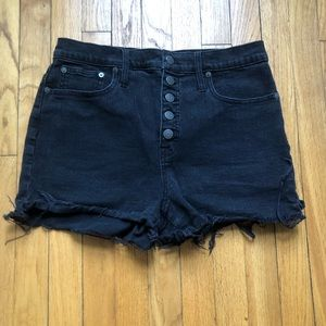 Madewell Black Jean Shorts